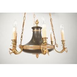 Lustre style Empire bronze doré