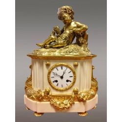 Pendule Napoléon III Bronze Doré