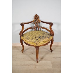 Fauteuil d'angle style Rocaille