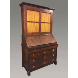 Commode-bureau-bibliothéque Noyer Empire