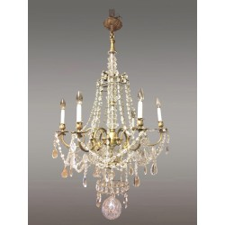 Grand Lustre style Louis XV bronze