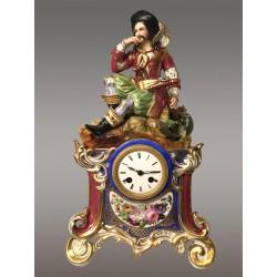 Pendule En Porcelaine 1830 style Jacob Petit
