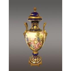 Grand Vase Faéence Style Sévres