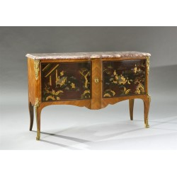 Commode Style Transition Laque De Chine