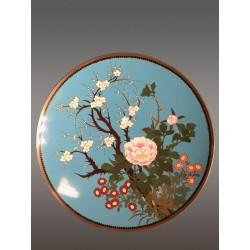 Assiette en Cloisonné Japon Fin XIXe Siécle