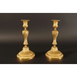 Paire De Bougeoirs Style Louis XVI