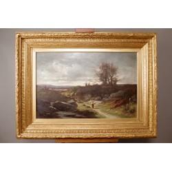 Paysage Par Léon Humbert Anthelme Dallemagne