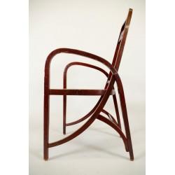 Joseph HOFFMANN (1878 - 1957) pour THONET : Paire de fauteuils