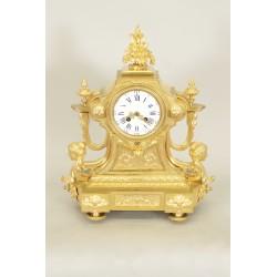 Pendule Bronze Doré Napoléon III