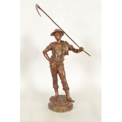 Sculpture Bronze Le Soir Par Marcel Debut