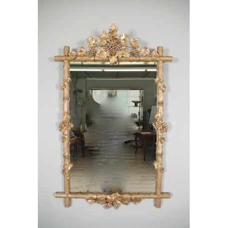 Miroir Bois Doré 1900