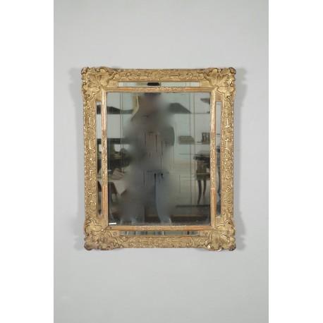 Miroir bois doré époque Régence