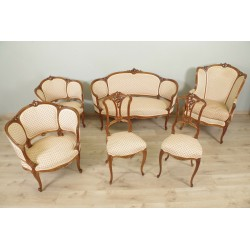 Salon Style Louis XV Noyer 1900
