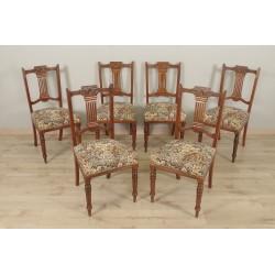 Six chaises style anglais acajou