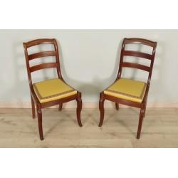 Paire de chaises époque Restauration