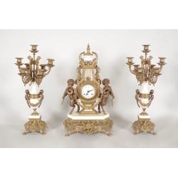 Garniture de cheminée style Louis XVI
