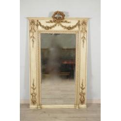 Miroir Laqué Et Doré Style Louis XVI